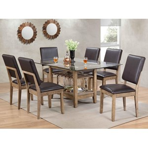 Bernards Cordova 7-Piece Table Set