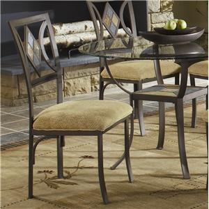 Bernards Diamond Tile Side Chair with Upholstered Seat