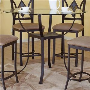 Bernards Diamond Tile Pub Table