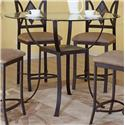 Bernards Diamond Tile Pub Table - Item Number: 4718