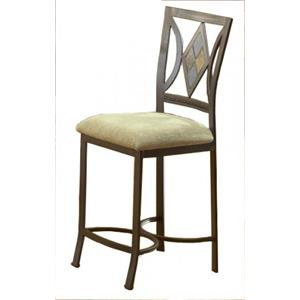 Bernards Diamond Tile Bar Stool