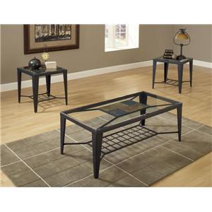 Bernards Diamond Tile Occasional Table Group
