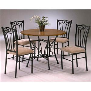 Morris Home Furnishings Heritage 5 Piece Wood and Metal Dinette