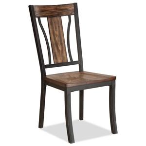 Bernards Hollister Metal and Wood Side Chair