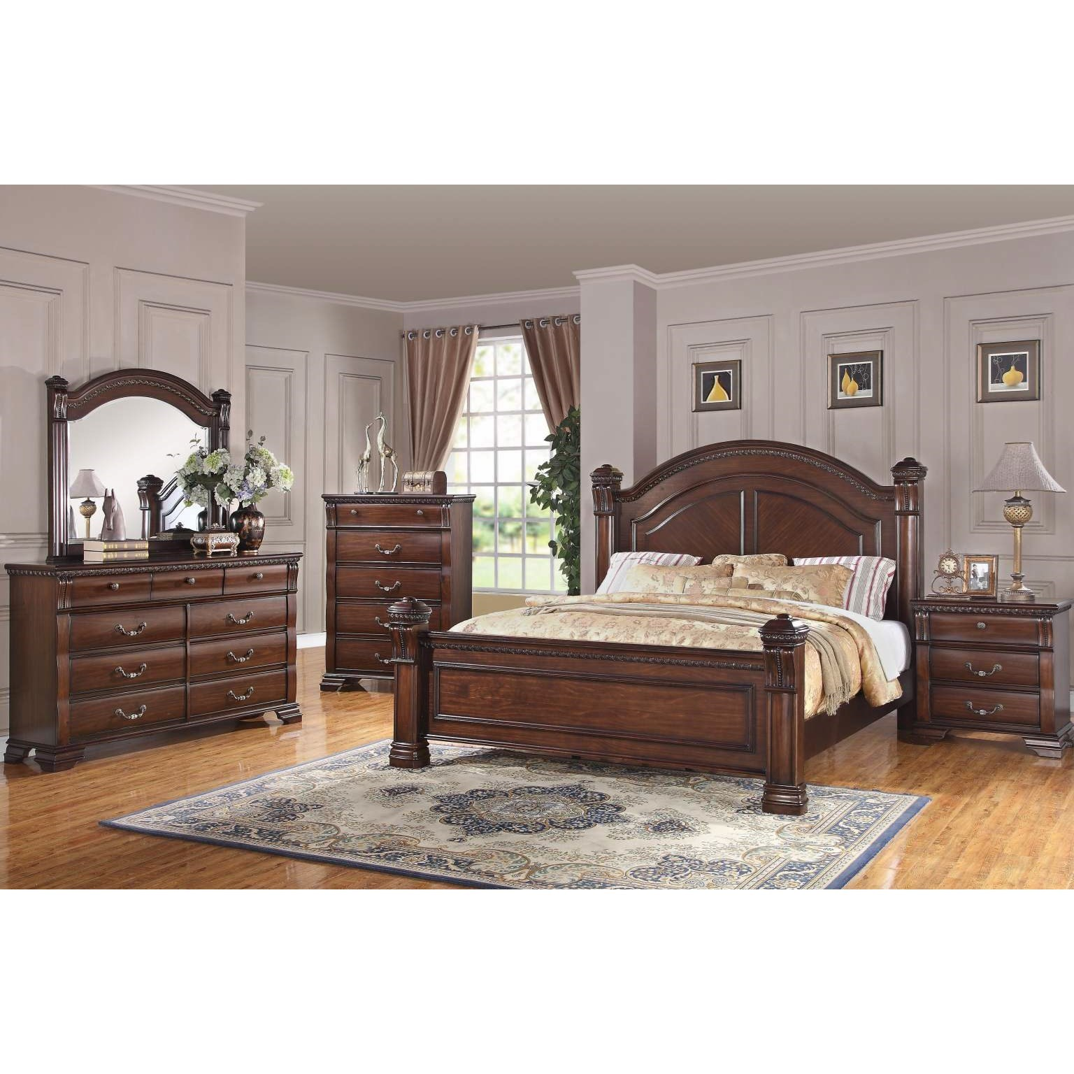 Bernards Isabella King Bedroom Group