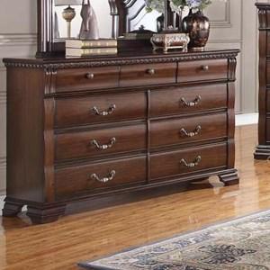 Bernards Isabella 9 Drawer Dresser