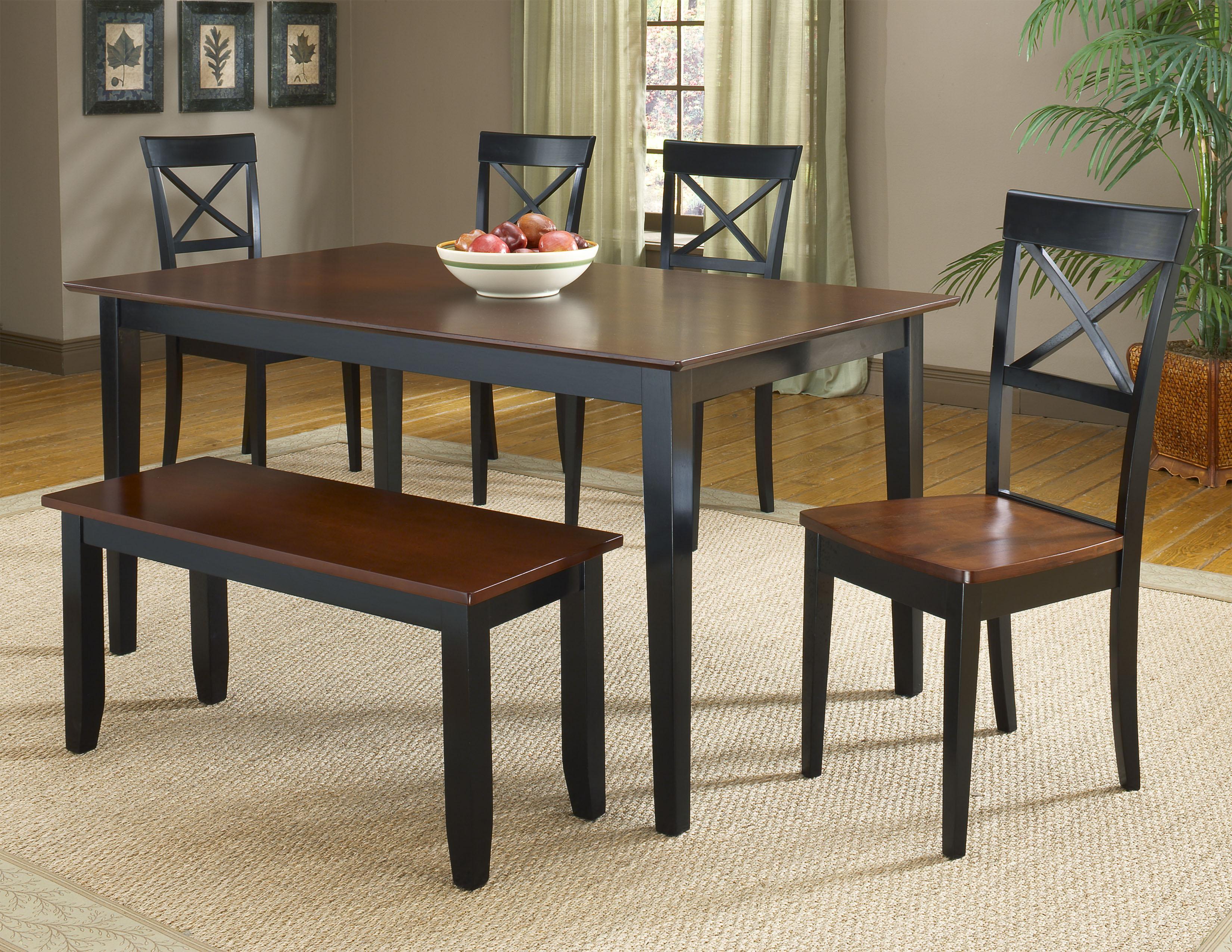 Bernards Jaguar 6-Piece Dinette Table Set with Bench - Item Number: 5110+4x11+13