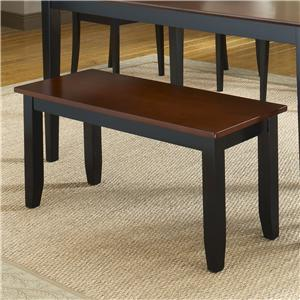 Bernards Jaguar Black/Merlot Bench