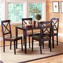 Morris Home Furnishings Jaguar Merlot and Black Dinette - Item Number: 5698