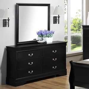 Morris Home Furnishings Jet Dresser & Mirror