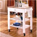 Bernards Kitchen Carts Caster Kitchen Island with Marble Top - Item Number: 7431
