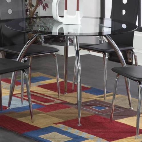 Bernards Lunar Black / Chrome Dinette Table - Item Number: 4502