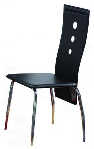 Bernards Lunar Black / Chrome Chair - Item Number: 4503
