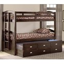 Bernards Maddock Twin over Twin Captain's Bunk Bed - Item Number: 3340
