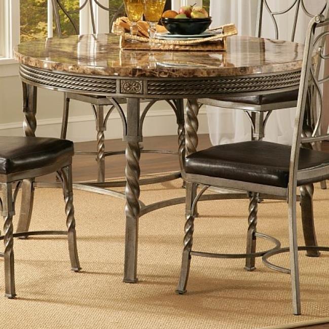 Bernards Madison Faux Marble / Metal Dinette Table - Item Number: 4330