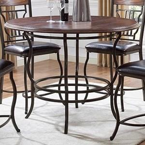Bernards Midland Round Counter Dining Table
