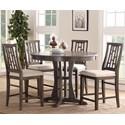 Bernards Modesto 5-Piece Counter Dining Table Set - Item Number: 5677-530+4x540