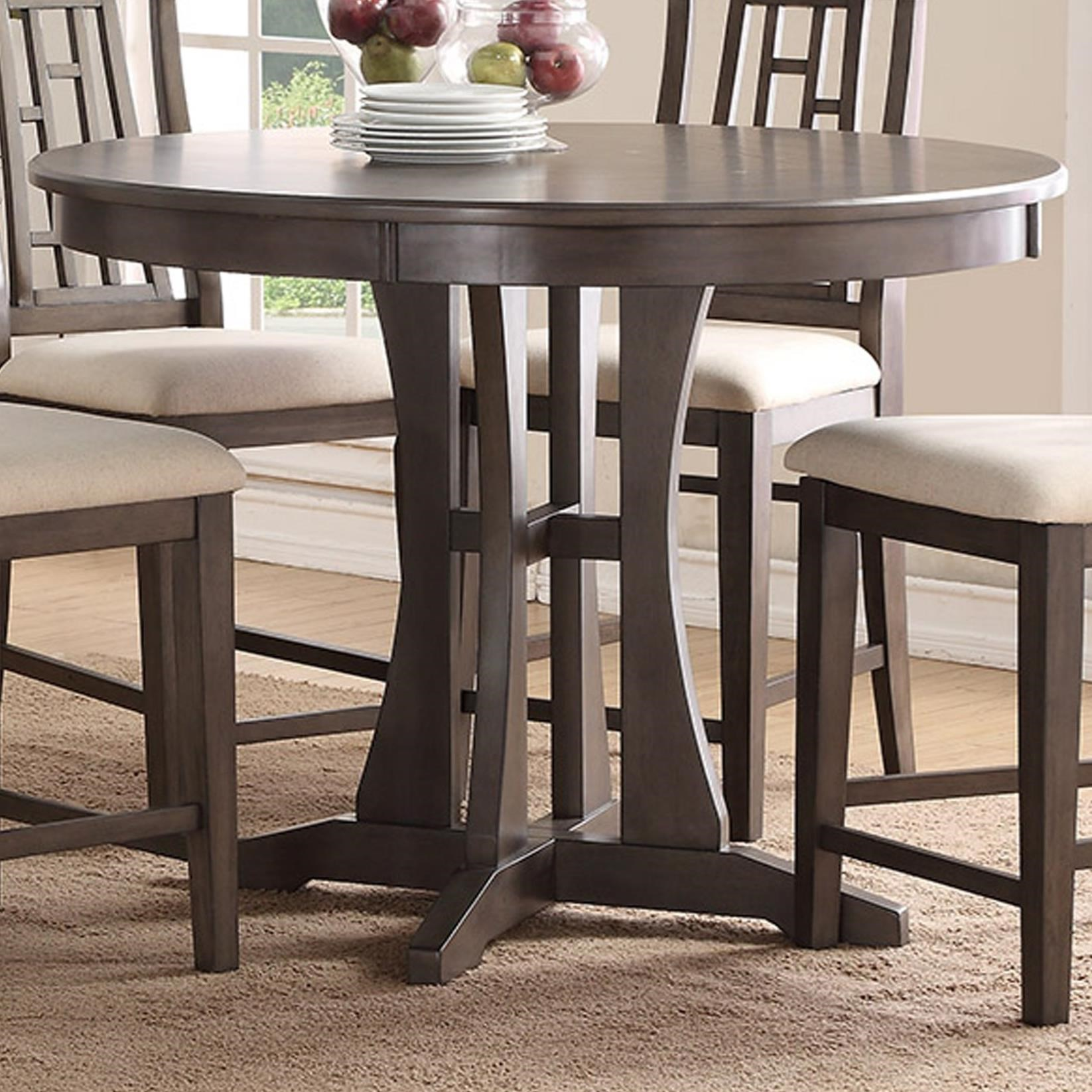 Modesto 48 Inch Round Counter Dining Table With Pedestal Base By Bernards