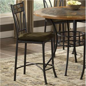 Morris Home Furnishings Red Rock Metal Bar Stool