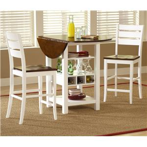 Bernards Ridgewood 3 Piece Pub Table Set