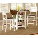 Morris Home Furnishings Ridgewood 3 Piece Pub Table Set - Item Number: 5916+2x5917