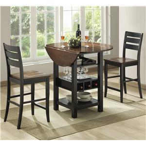 Morris Home Furnishings Ridgewood 3 Piece Pub Table Set