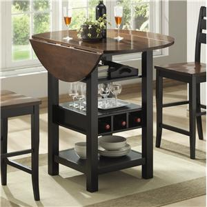 Morris Home Furnishings Ridgewood Drop Leaf Pub Table
