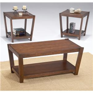 Morris Home Furnishings Sabre 3 Pack Wood Occasional Tables