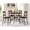 Morris Home Furnishings Stockton Metal and Wood Counter Height Barstool