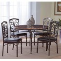 Morris Home Furnishings Tuscan 5-Piece Faux Marble Dinette Table Set - Item Number: 4550+4x4551