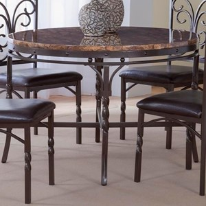 Bernards Tuscan Faux Marble Dinette Table