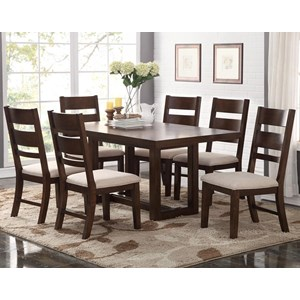 Bernards Volante 7-Piece Rectangular Dining Table Set