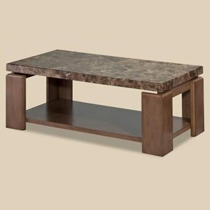 Morris Home Furnishings Waxhaw Faux Marble Coffee Table