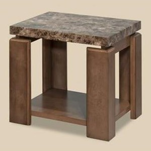 Morris Home Furnishings Waxhaw Faux Marble End Table