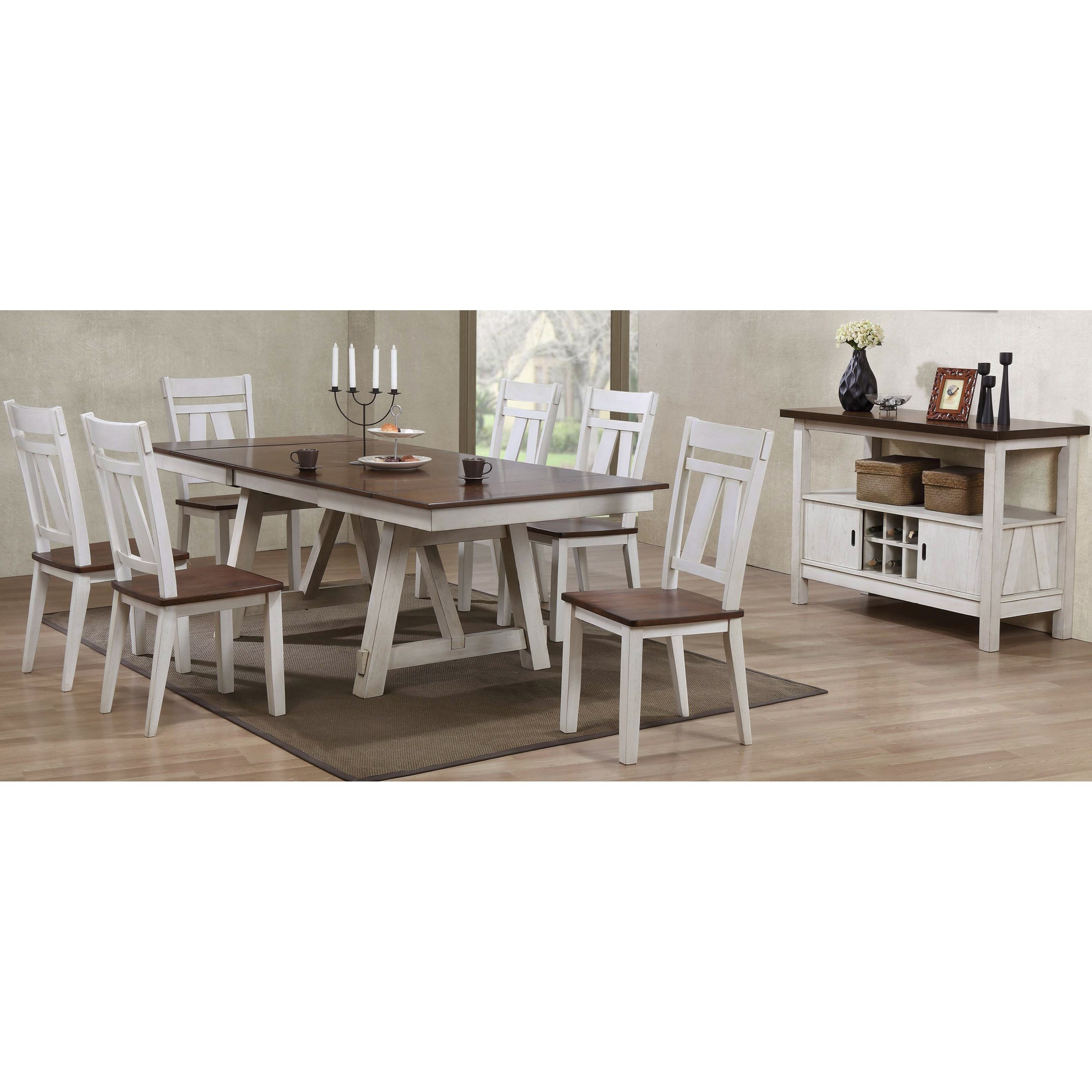 Anime Royal Dining Room: Bernards Winslow 7-Piece Two-Tone Refectory Table Set