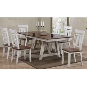Bernards Winslow 7-Piece Dining Table Set