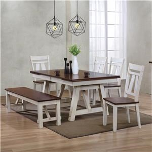 6-Piece Table Set with Bench