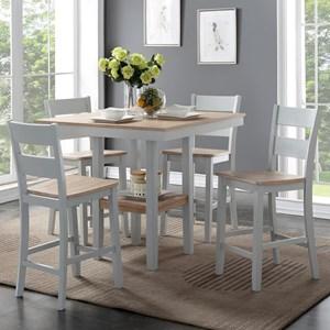 Bernards York 5-Piece Counter Table Set
