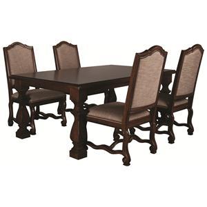 Bernhardt Montecello Montecello 5 Piece Dining Room Set