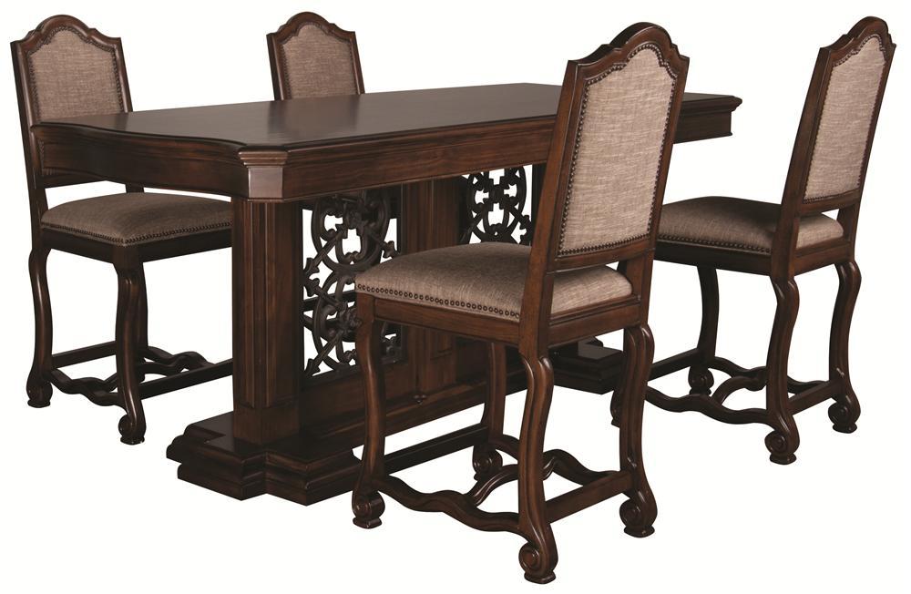 Bernhardt Montecello Montecello 5 Piece Dining Room - Item Number: 350-950+951+583