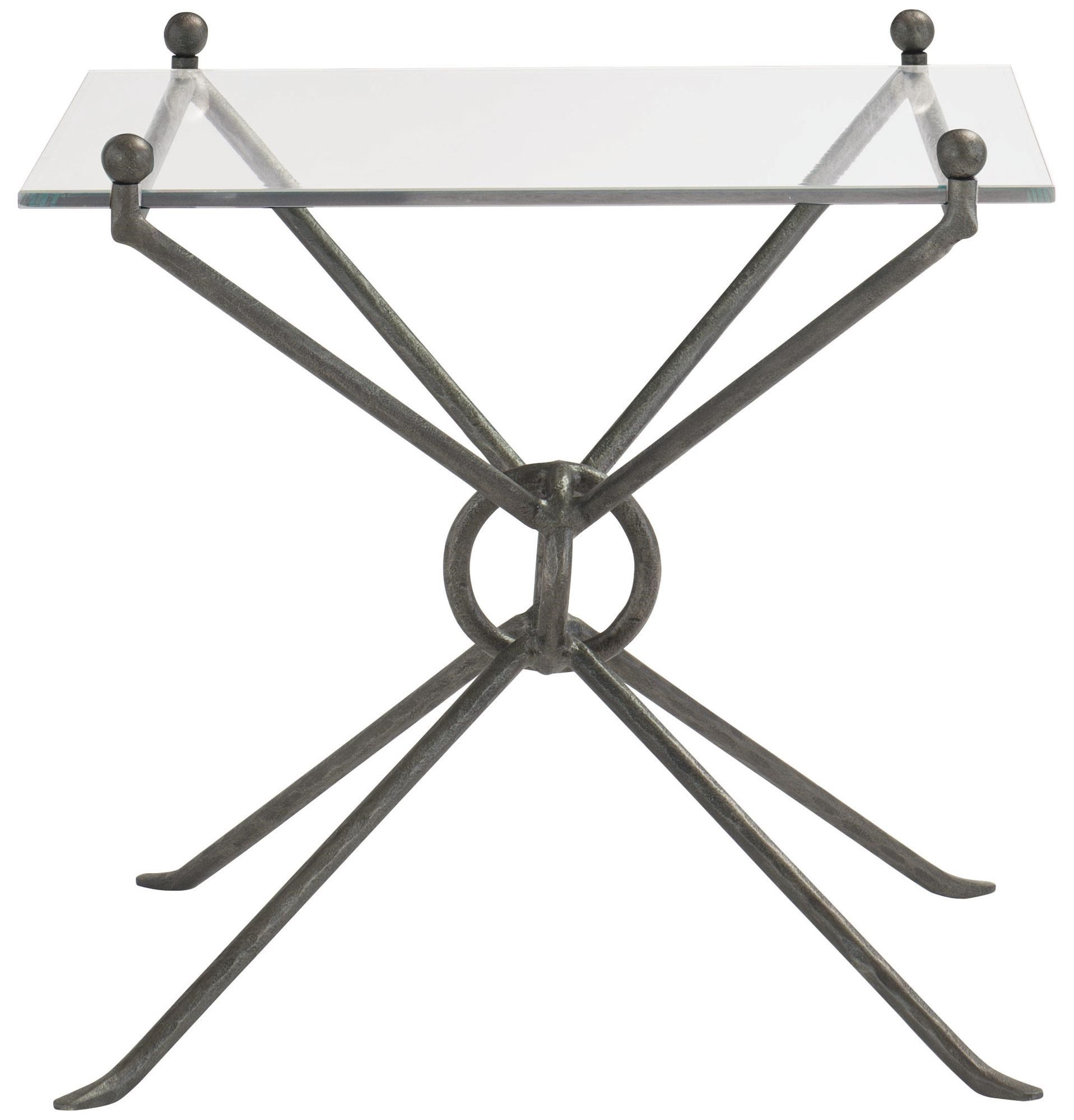 Cortland Metal and Glass End Table by Bernhardt at Dunk & Bright Furniture