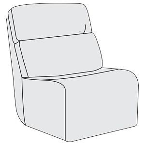 Bernhardt Aaron Leather Armless Chair