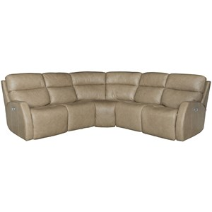 Bernhardt Aaron Leather Power Motion Sectional