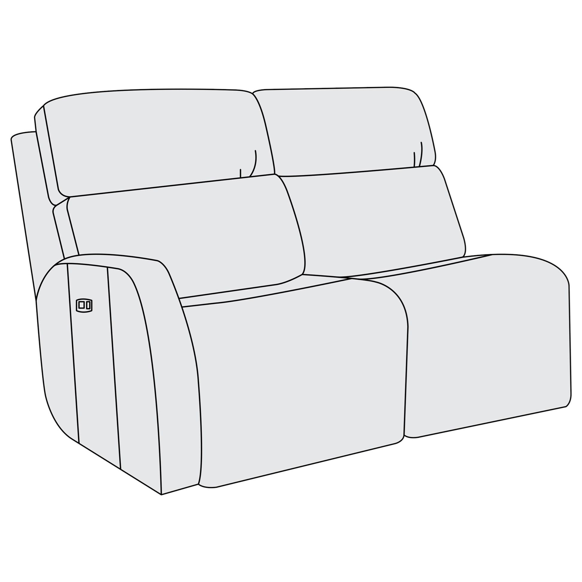Sensational Bernhardt Aaron Leather Left Arm Power Motion Loveseat Pabps2019 Chair Design Images Pabps2019Com