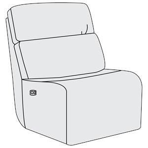 Bernhardt Aaron Leather Power Motion Armless Chair