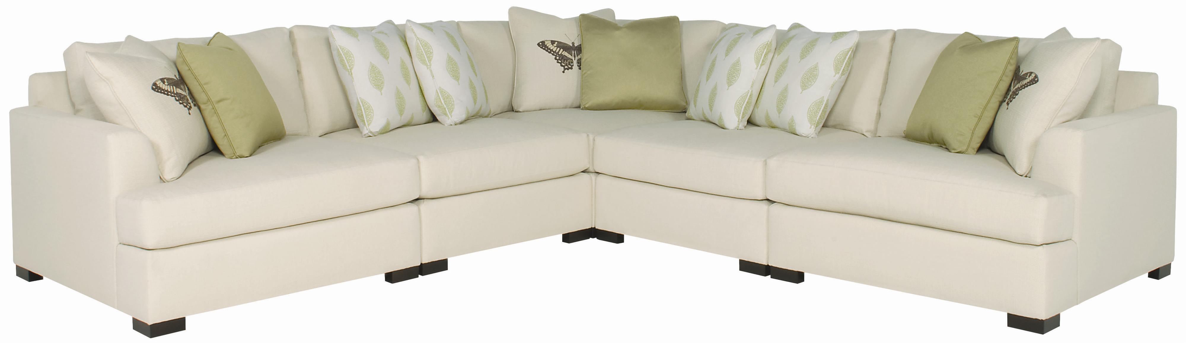 Bernhardt Adriana Sectional Sofa - Item Number: N1536+2xN1530+N1532+N1535