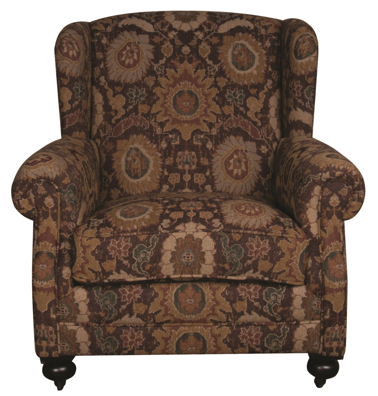 Bernhardt Morris Home Furnishings Anna Wing Chair - Item Number: 549087357
