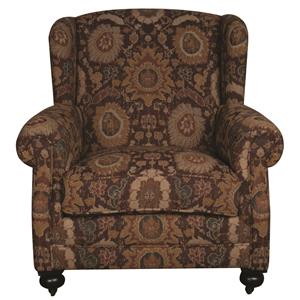 Bernhardt Morris Home Furnishings Anna Wing Chair