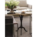 Bernhardt Antiquarian Round Chairside Table with Metal Base