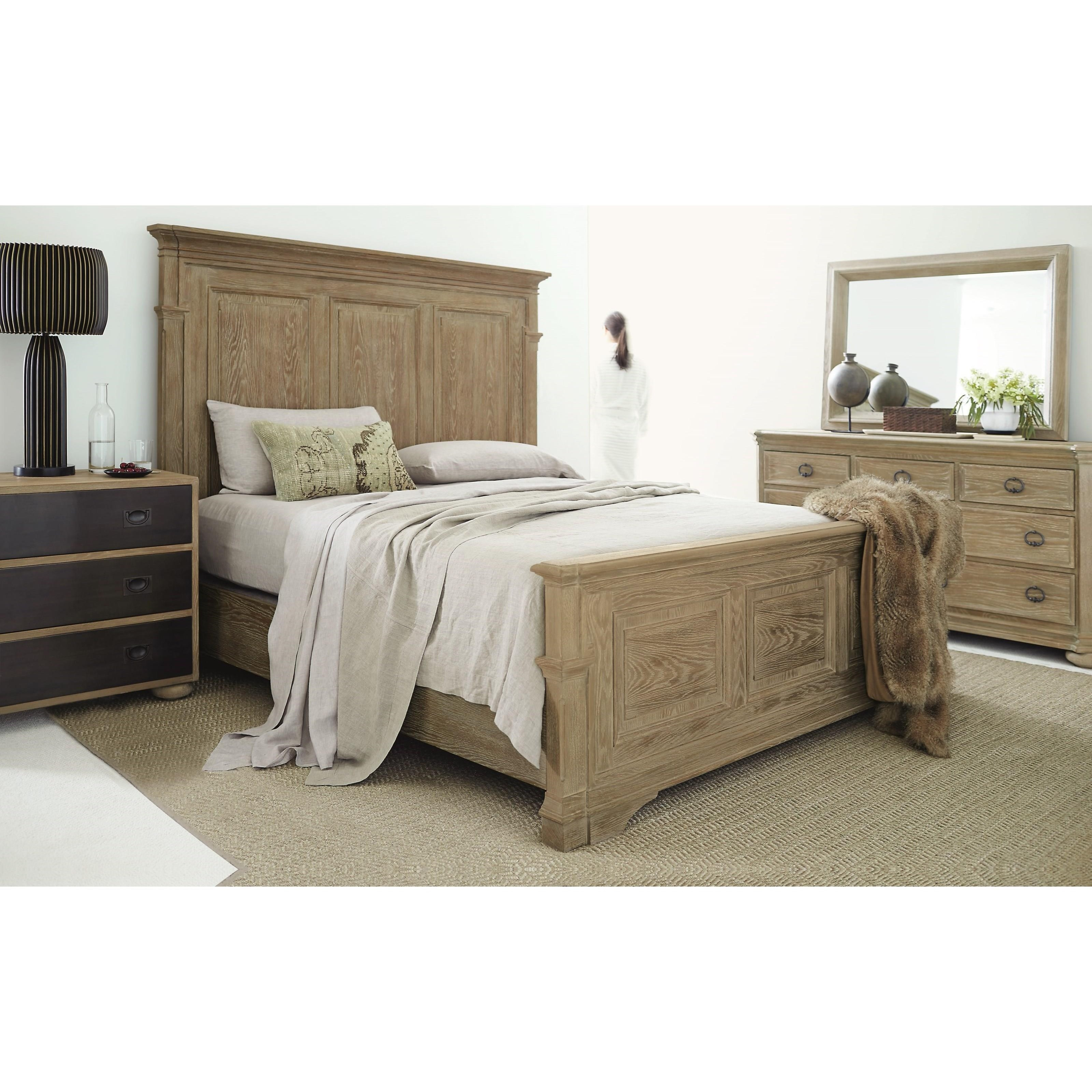 Bernhardt Antiquarian 365 H04 F04 R04 Queen Panel Bed With
